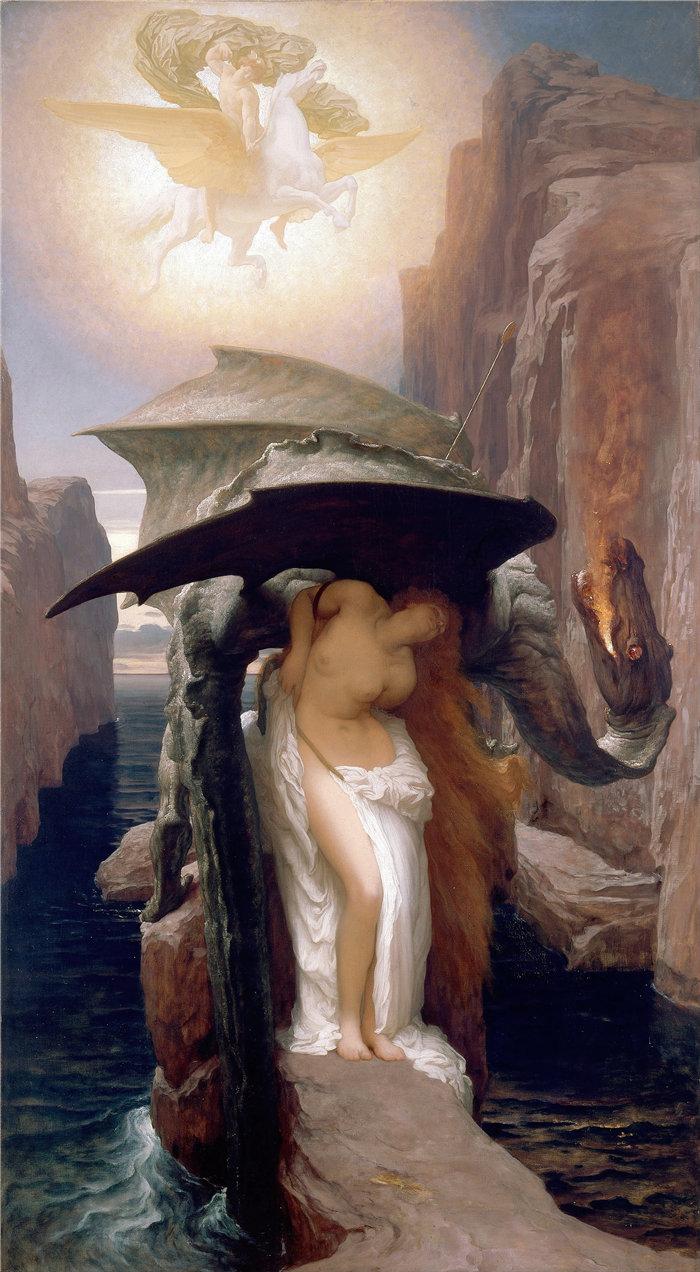 弗雷德里克·莱顿(Frederick Leighton)作品 - 珀尔修斯和仙女座 (1891)