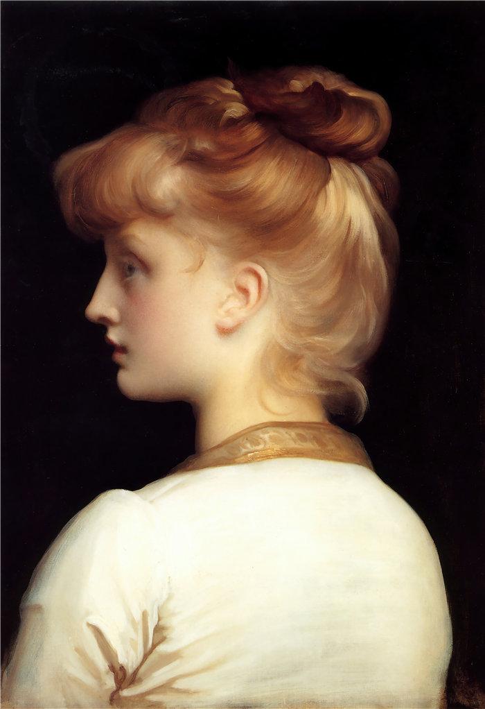 弗雷德里克·莱顿(Frederick Leighton)作品 - 一个女孩