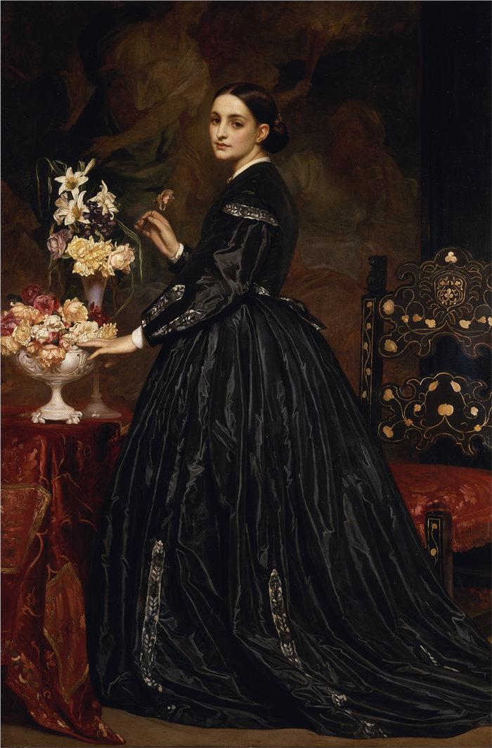 弗雷德里克·莱顿(Frederick Leighton)作品 - 詹姆斯·格思里夫人(1864 年至 1865 年)