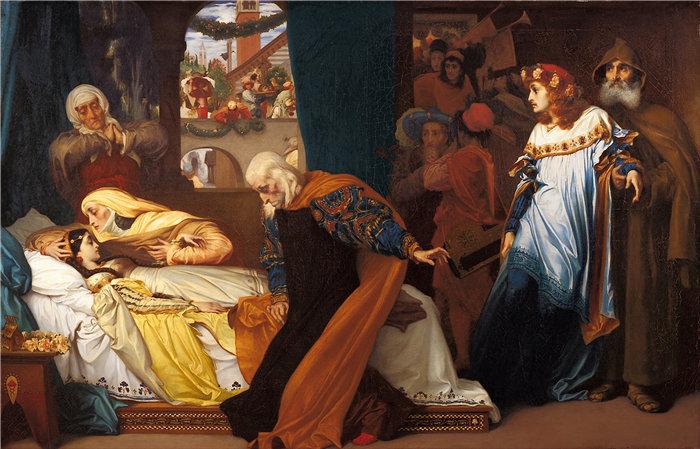 弗雷德里克·莱顿(Frederick Leighton)作品 - 朱丽叶的假-死