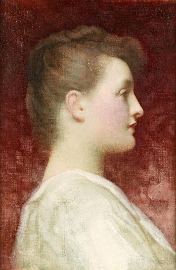 弗雷德里克·莱顿(Frederick Leighton)作品 - 在配置文件中的女孩