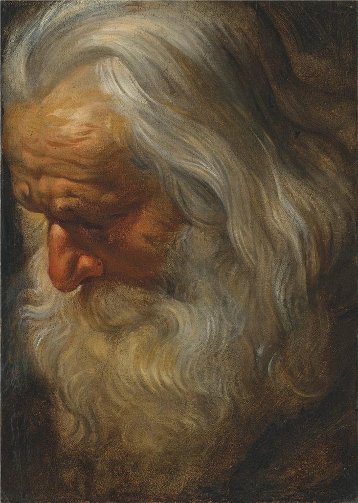 彼得·保罗·鲁本斯( Peter Paul Rubens)作品-一个大胡子老人的头部研究