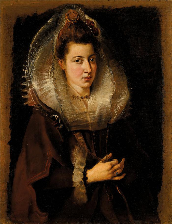 彼得·保罗·鲁本斯( Peter Paul Rubens)作品-一个年轻女子的画像