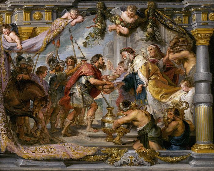 彼得·保罗·鲁本斯( Peter Paul Rubens)作品-亚伯拉罕与麦基洗德的会面(约 1626 年)