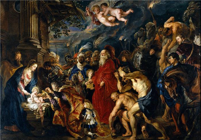 彼得·保罗·鲁本斯( Peter Paul Rubens)作品-贤士的崇拜 (1628-1629)