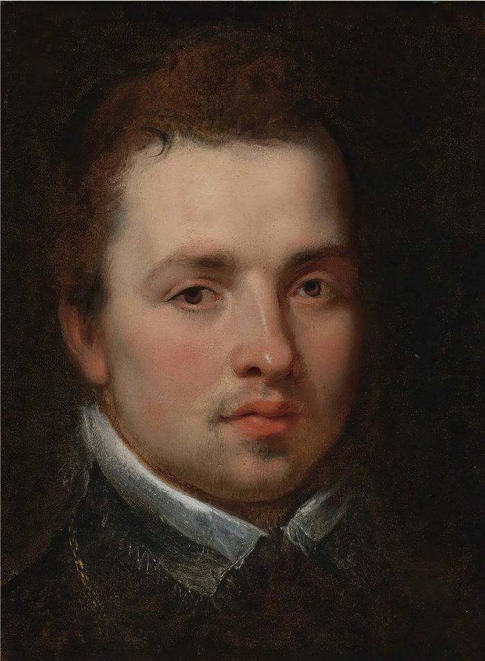 彼得·保罗·鲁本斯( Peter Paul Rubens)作品-一个年轻人的肖像