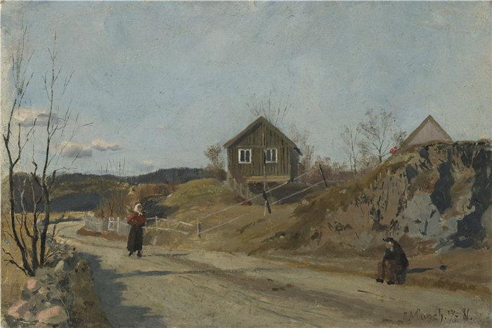 爱德华·蒙克(Edvard Munch)作品 - 从 Vestre Aker (1881)