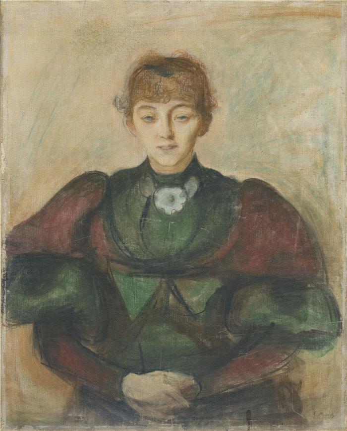 爱德华·蒙克(Edvard Munch)作品 - Ragnhild Bäckström(约 1894 年)