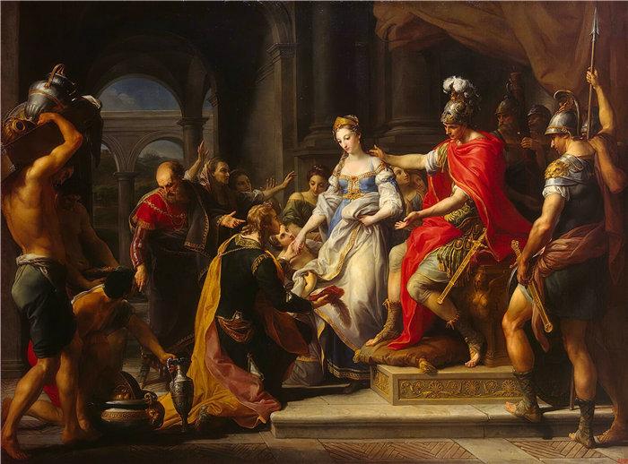 蓬佩奥·巴托尼 (Pompeo Girolamo Batoni,意大利) 作品-西庇阿的节制(1771-72)