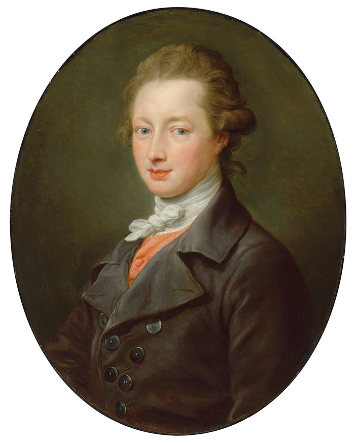 蓬佩奥·巴托尼 (Pompeo Girolamo Batoni,意大利) 作品-绅士的肖像