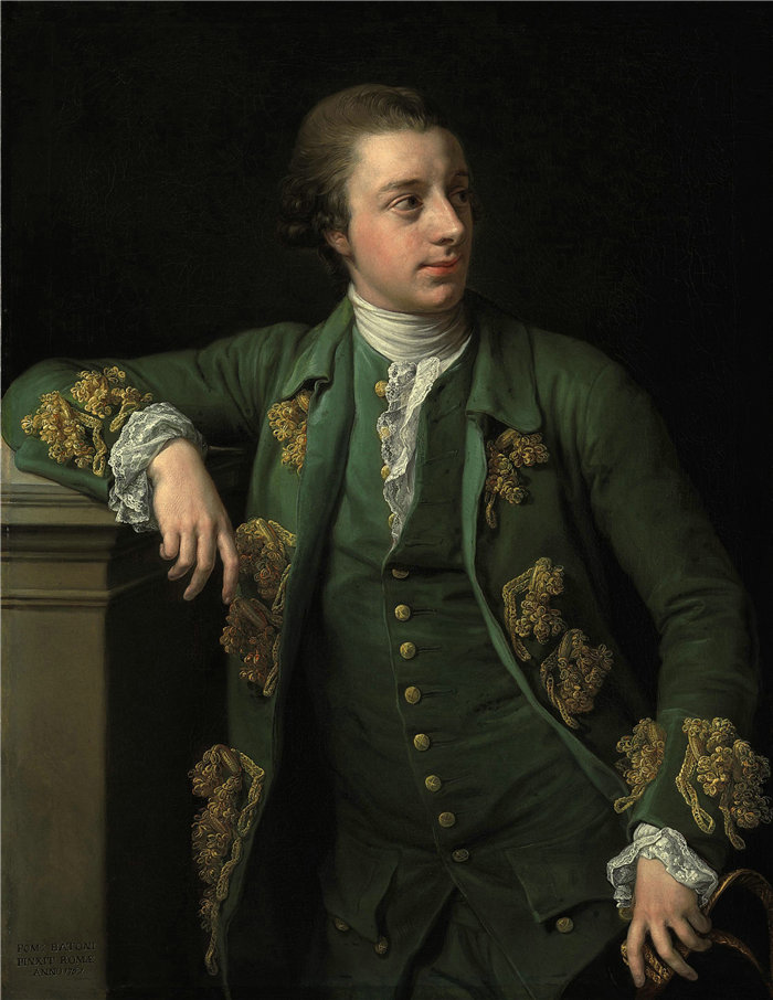 蓬佩奥·巴托尼 (Pompeo Girolamo Batoni,意大利) 作品-托马斯·福特斯库 (Thomas Fortescue) 的肖像 (1767)