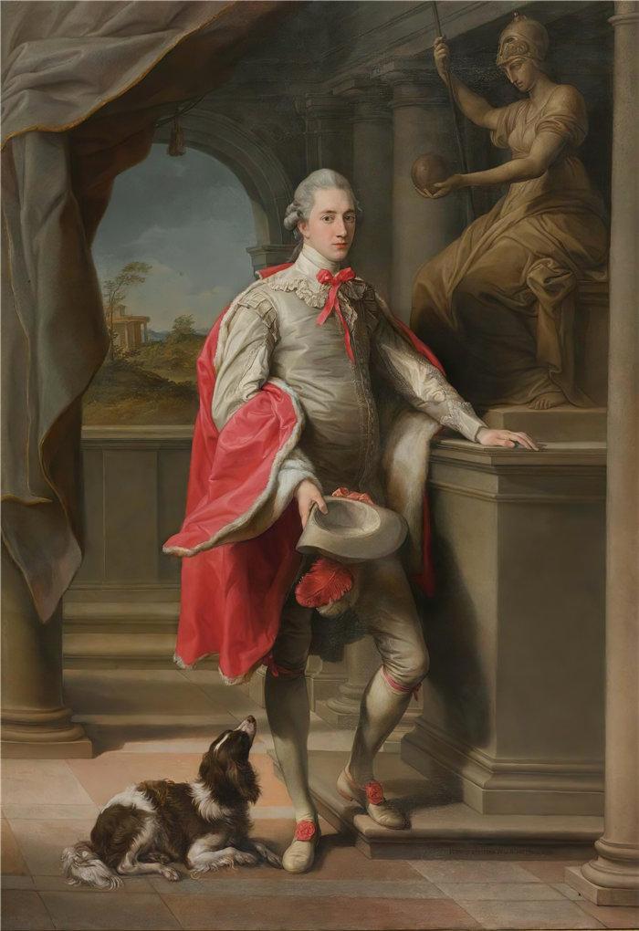 蓬佩奥·巴托尼 (Pompeo Girolamo Batoni,意大利) 作品-约翰的肖像,第三代伯顿男爵蒙森