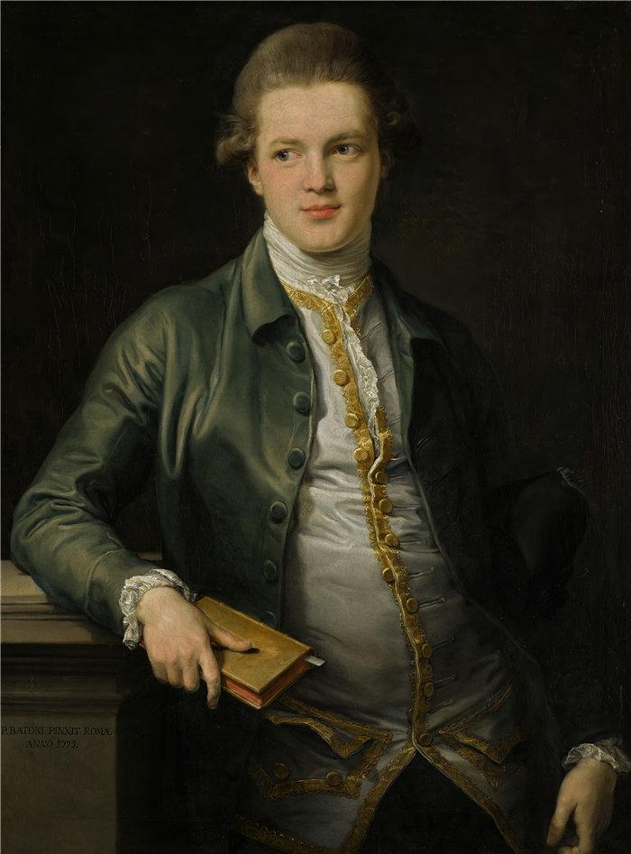 蓬佩奥·巴托尼 (Pompeo Girolamo Batoni,意大利) 作品-托马斯·奥德、后来的奥德-波利特和第一代博尔顿男爵 (1773) 的肖像