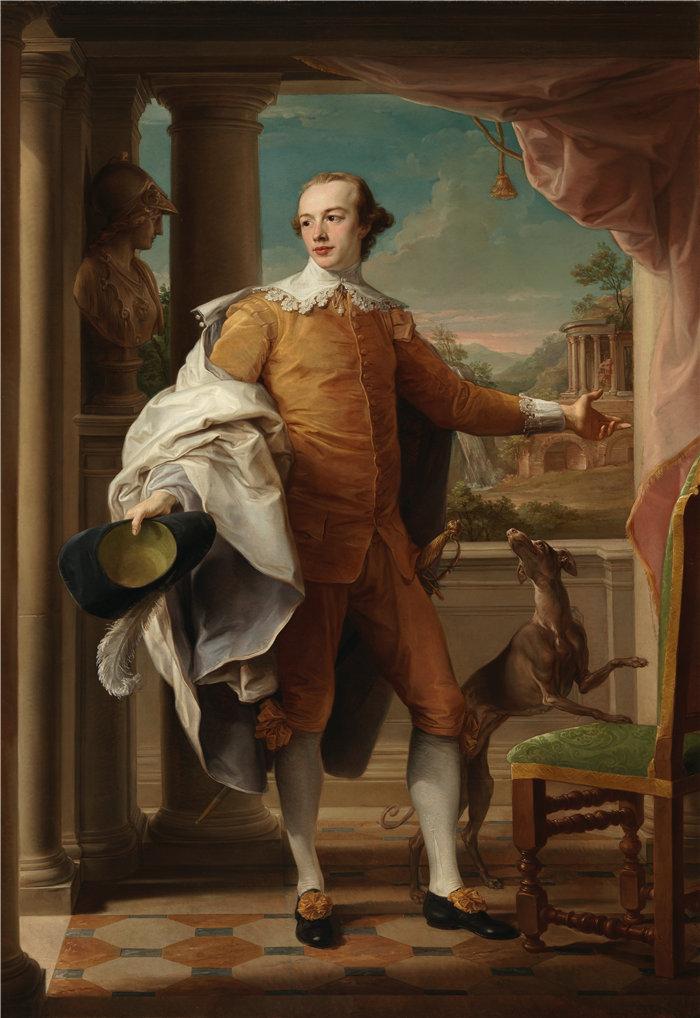蓬佩奥·巴托尼 (Pompeo Girolamo Batoni,意大利) 作品-温德姆爵士的肖像 Knatchbull-Wyndham (1758-1759)