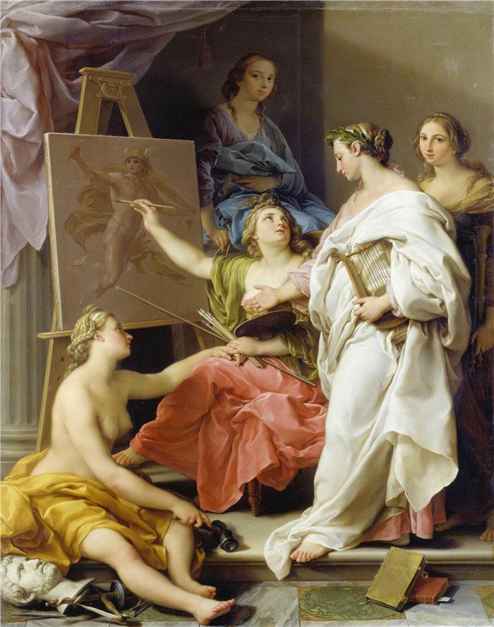 蓬佩奥·巴托尼 (Pompeo Girolamo Batoni,意大利) 作品-艺术寓言(1740)