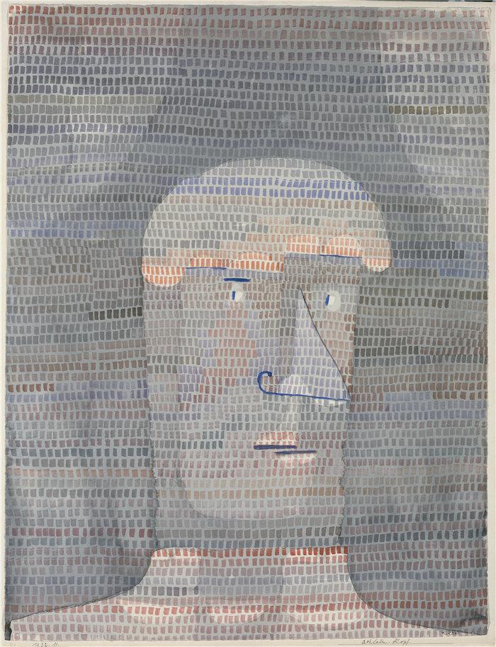 保罗・克利(Paul Klee,德国 )作品-运动员的头 (1932)