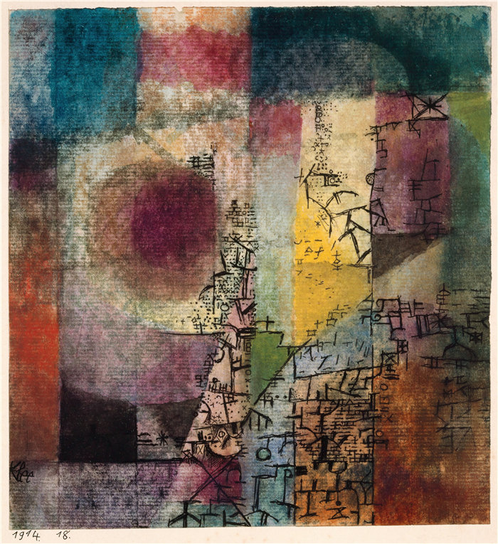 保罗・克利(Paul Klee,德国 )作品-无题 (1914)