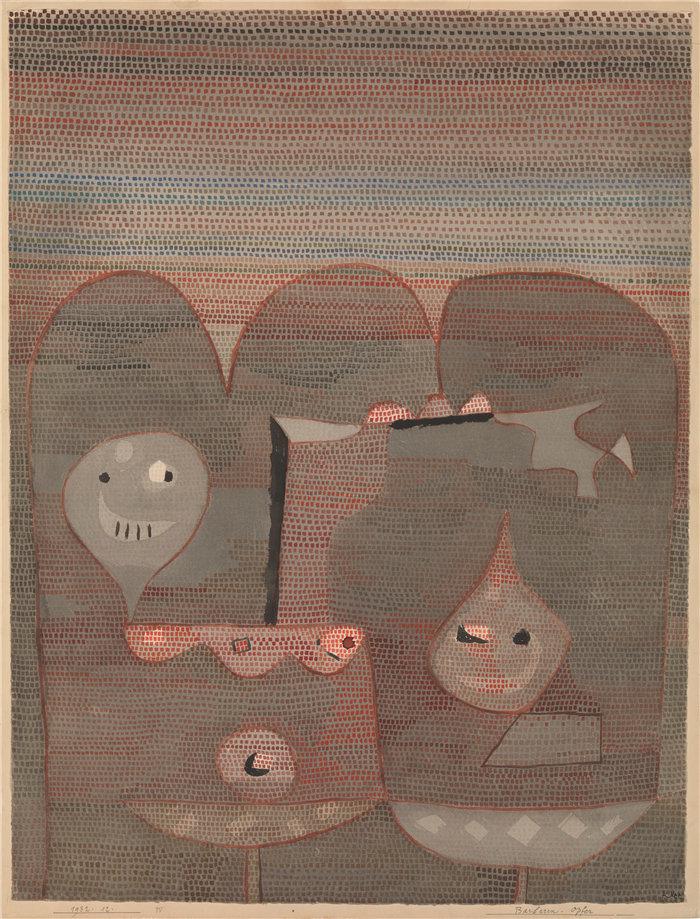 保罗・克利(Paul Klee,德国 )作品-野蛮人的牺牲 (1932)