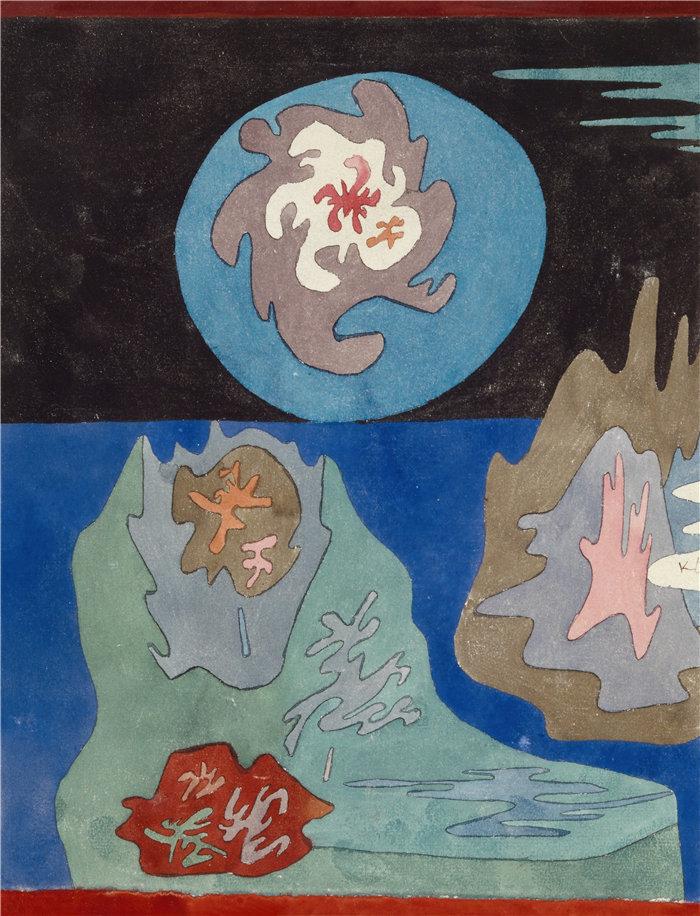 保罗・克利(Paul Klee,德国 )作品-在国家宝石 (1929)