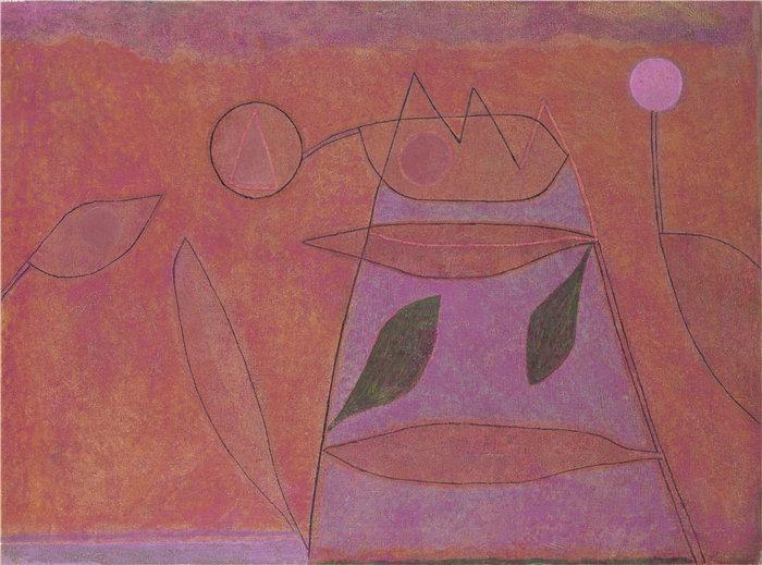 保罗・克利(Paul Klee,德国 )作品-无题 (1933)