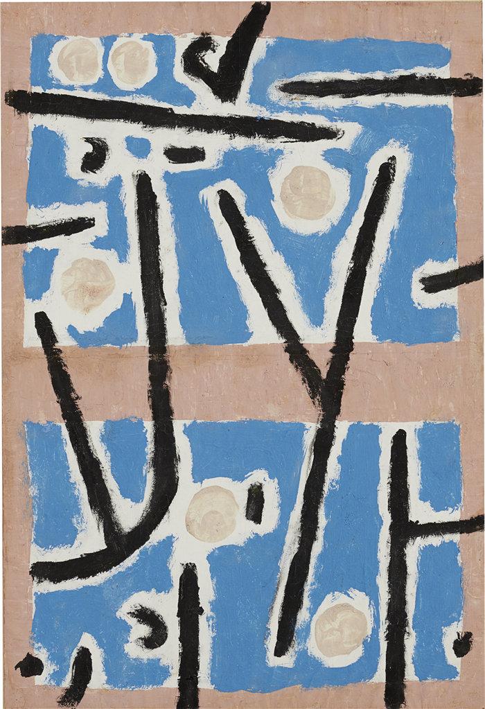 保罗・克利(Paul Klee,德国 )作品-无题(约 1938 年)