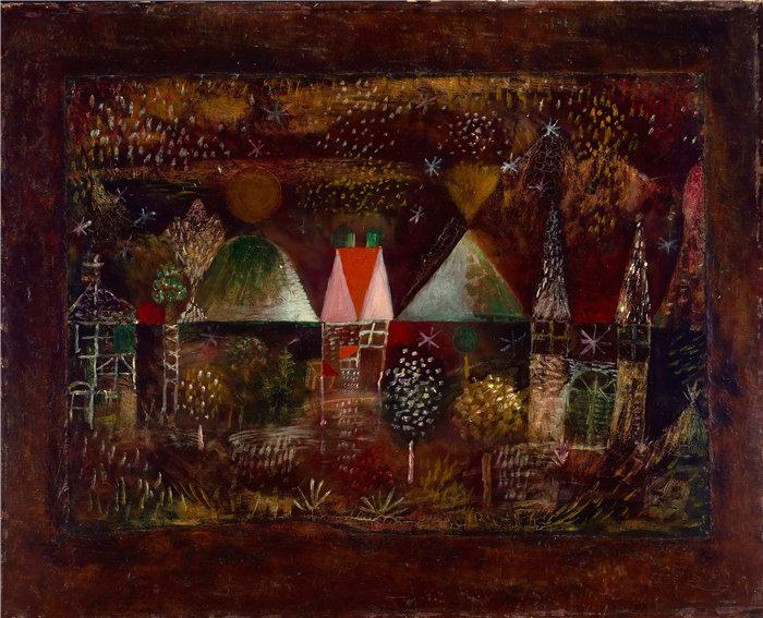 保罗・克利(Paul Klee,德国 )作品-夜宴 (1921)