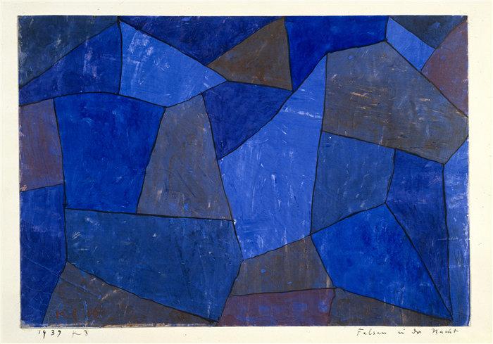 保罗・克利(Paul Klee,德国 )作品-夜晚的岩石 (1939)