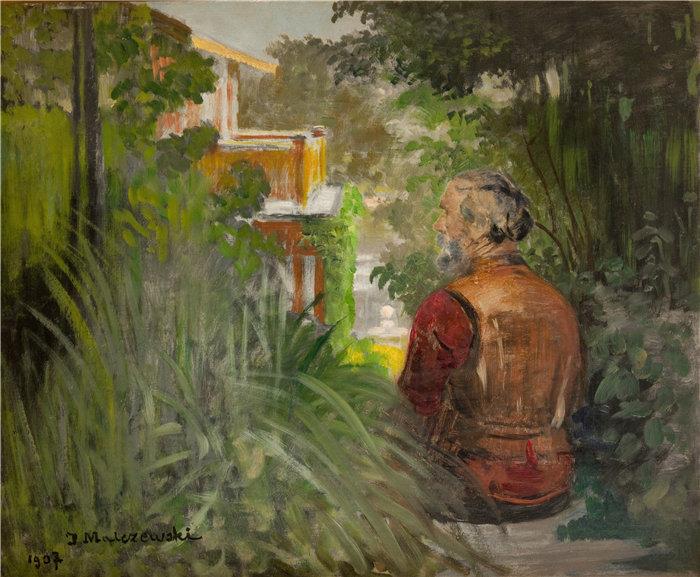 杰克·马尔切夫斯基(Jacek Malczewski,波兰画家)作品-有宫殿的风景(1907)