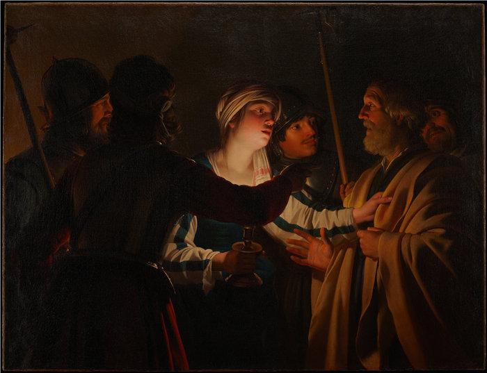 格里特·范·霍恩霍斯特(Gerrit van Honthorst,荷兰)-否认圣彼得(约 1623 年)
