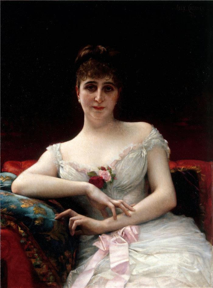 亚历山大·卡巴内尔(Alexandre Cabanel,法国画家)- 爱德华·埃尔韦夫人的肖像(1884 年)