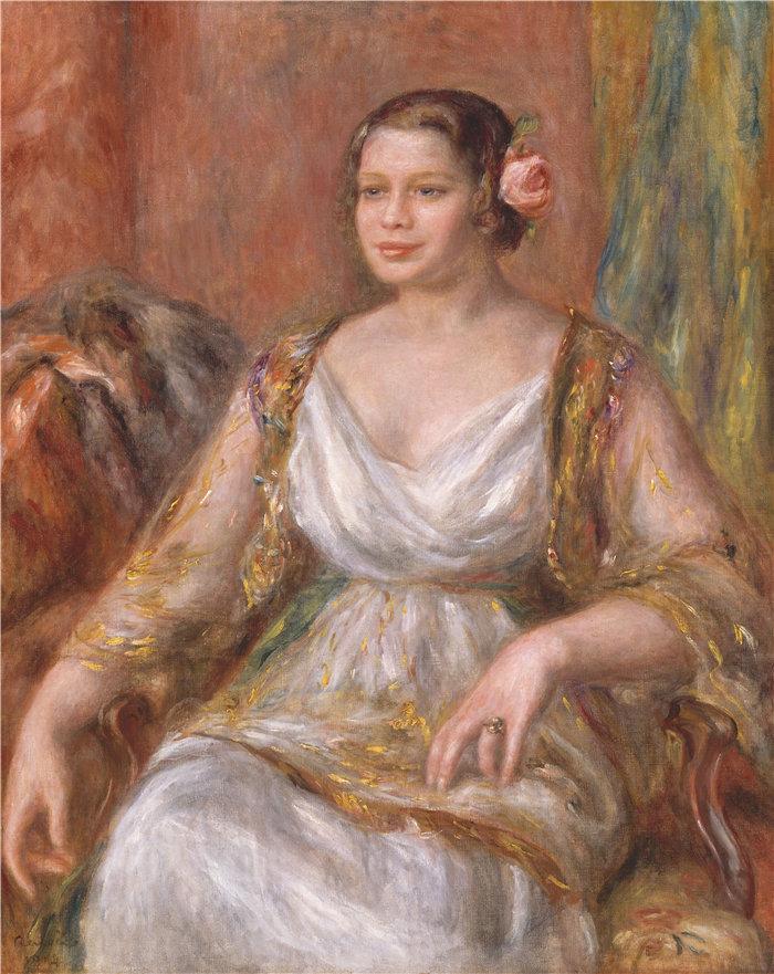 皮埃尔·奥古斯特·雷诺阿(Pierre-Auguste Renoir)作品 –蒂拉·杜里厄 (Ottilie Godeffroy, 1880–1971) (1914)