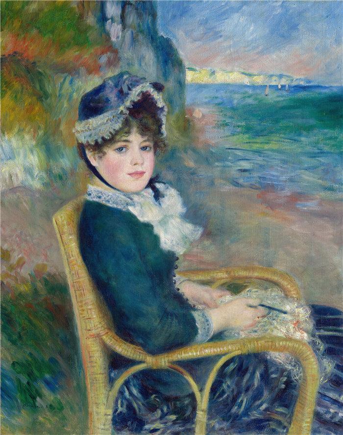 皮埃尔·奥古斯特·雷诺阿(Pierre-Auguste Renoir)作品 –海边 (1883)