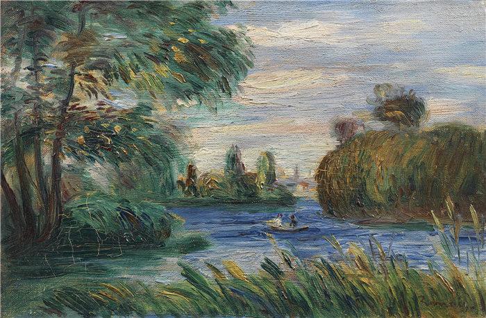 皮埃尔·奥古斯特·雷诺阿(Pierre-Auguste Renoir)作品 –河流景观(1890)