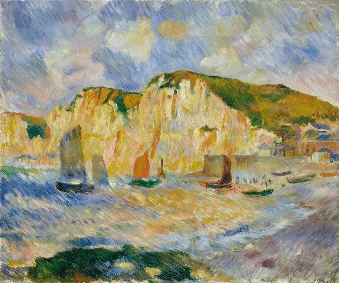 皮埃尔·奥古斯特·雷诺阿(Pierre-Auguste Renoir)作品 –海与悬崖(约 1885 年)