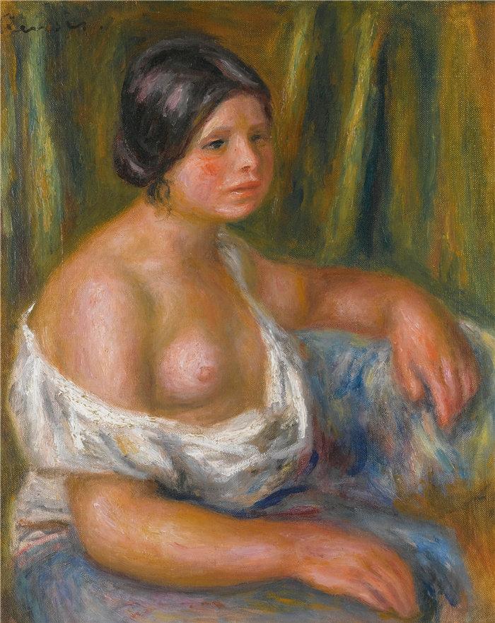 皮埃尔·奥古斯特·雷诺阿(Pierre-Auguste Renoir)作品 –蓝色女郎