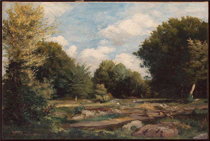 皮埃尔·奥古斯特·雷诺阿(Pierre-Auguste Renoir)作品 –林中空地 (1865)