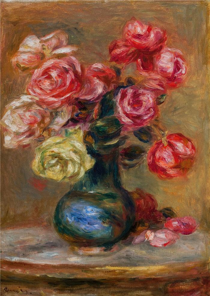皮埃尔·奥古斯特·雷诺阿(Pierre-Auguste Renoir)作品 –乐花束 (1910)