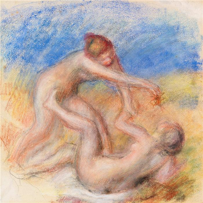 皮埃尔·奥古斯特·雷诺阿(Pierre-Auguste Renoir)作品 –两个人体(约 1897 年)