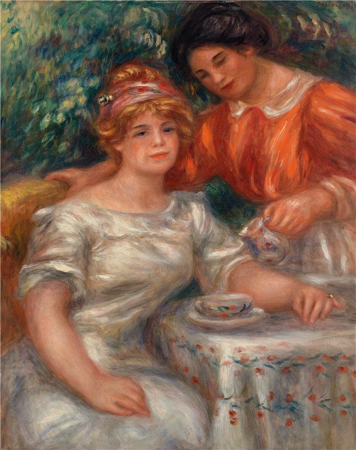 皮埃尔·奥古斯特·雷诺阿(Pierre-Auguste Renoir)作品 –下午茶时间 (1911)