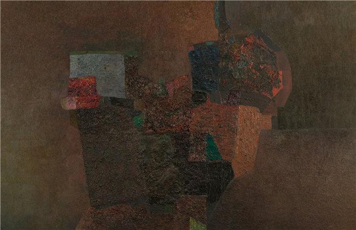 雅各布·魏德曼(Jakob Weidemann,挪威画家)作品-斯科本 (1961)