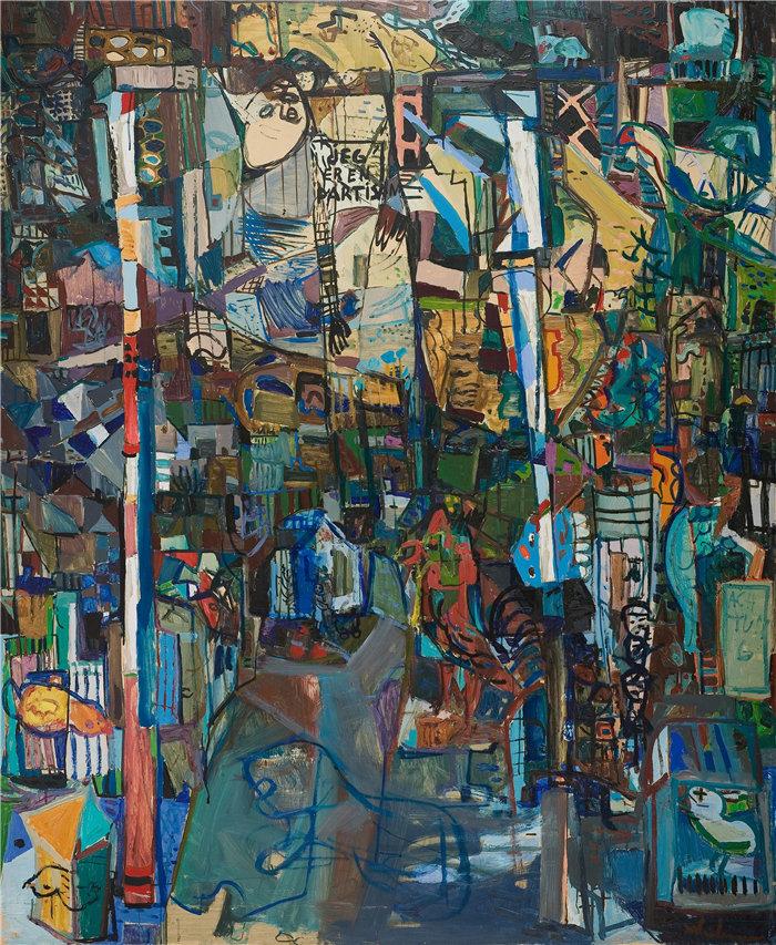 雅各布·魏德曼(Jakob Weidemann,挪威画家)作品-党派 (1945)