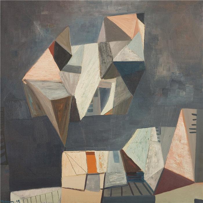 雅各布·魏德曼(Jakob Weidemann,挪威画家)作品-Steinskulpturen (1949)