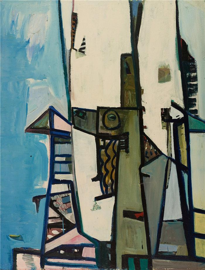 雅各布·魏德曼(Jakob Weidemann,挪威画家)作品-Komposisjon II (1947)