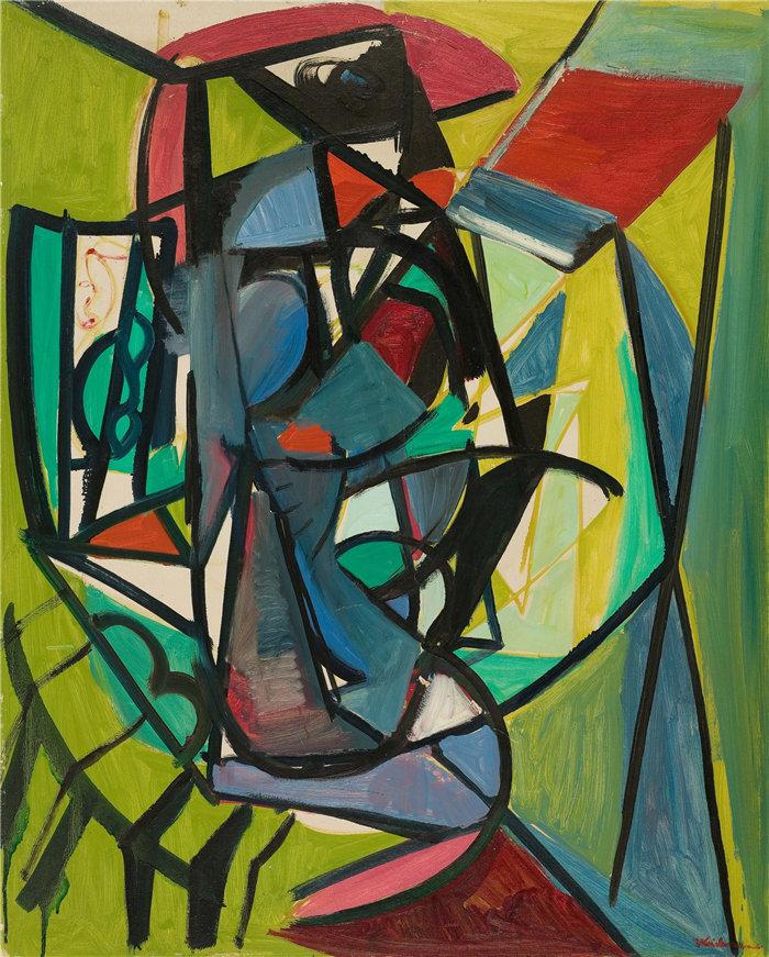 雅各布·魏德曼(Jakob Weidemann,挪威画家)作品-Komposisjon I (1948)