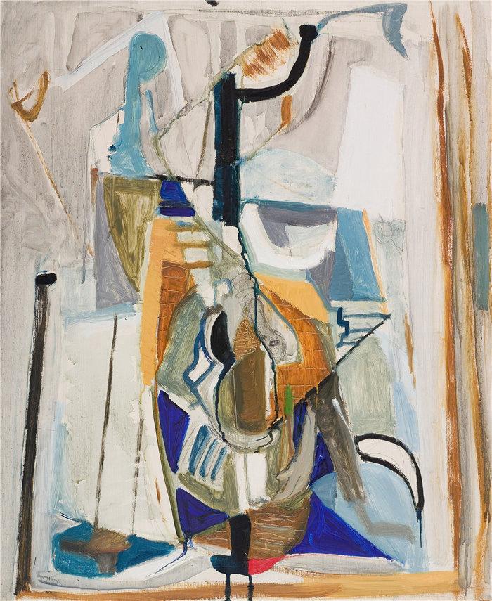 雅各布·魏德曼(Jakob Weidemann,挪威画家)作品-Komposisjon II (1945)