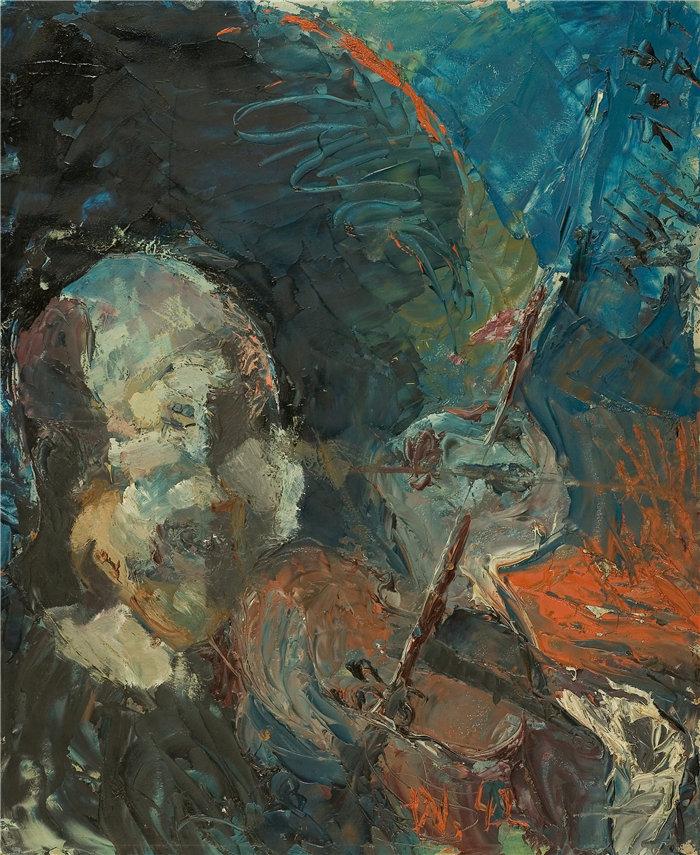 雅各布·魏德曼(Jakob Weidemann,挪威画家)作品-Felespiller (1942)