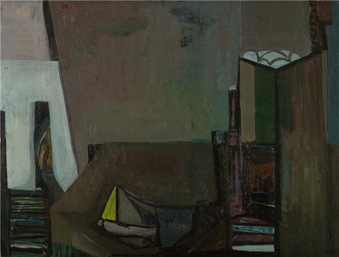 雅各布·魏德曼(Jakob Weidemann,挪威画家)作品-Komposisjon (1945-46)