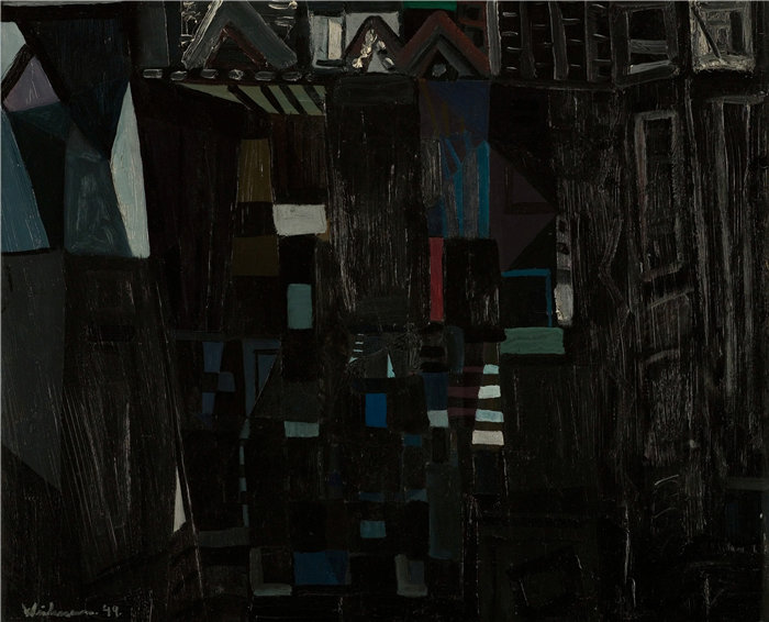 雅各布·魏德曼(Jakob Weidemann,挪威画家)作品-甘梅尔·柯克 (1949)