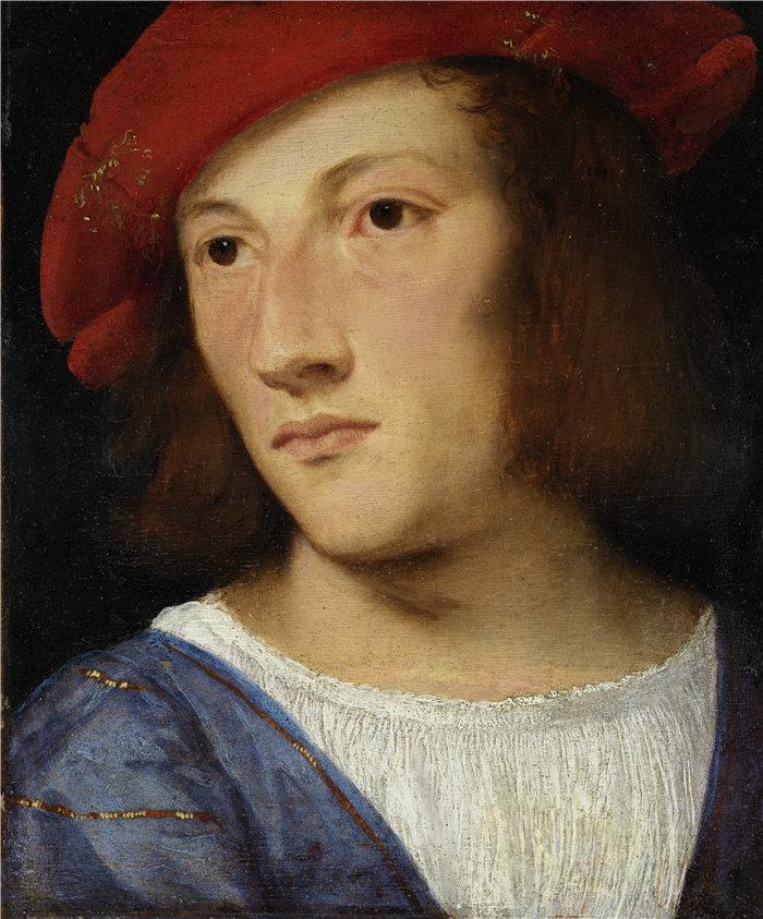 提香(Titian,意大利画家)作品--一个年轻人的肖像(约 1510 年)