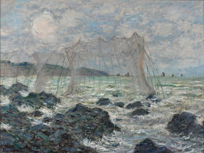 克洛德·莫奈(Claude Monet,法国画家)作品- 普维尔的渔网 (1882)